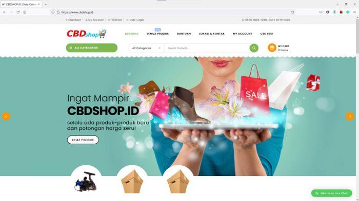 smartflexi-sp website - online shop - cbdshop.id
