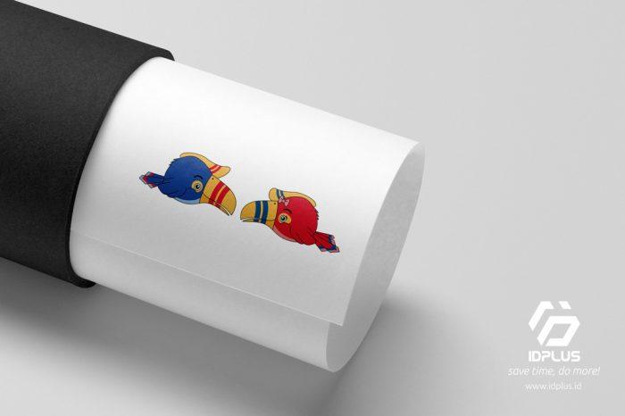 Desain Maskot - Mascot Design - SD Adicita Mulia (Burung Rangkong)